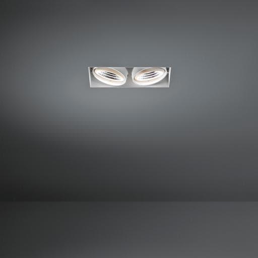 Modular Lighting Mini Multiple Trimless 2x Led 1-10V/Pushdim MO 11441209 Blanc structuré