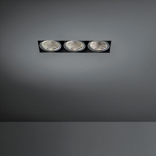 Modular Lighting Mini Multiple Trimless 3x Led 1-10V/Pushdim MO 11442402 Schwarz