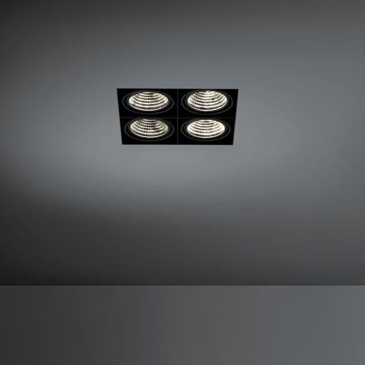 Modular Lighting Mini Multiple Trimless 4x Led 1-10V/Pushdim MO 11443402 Noir