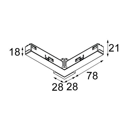 Modular Lighting Pista Track 48V Electrical Mechanical Connection 90 MO 13418232 Noir structuré